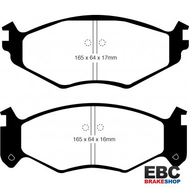EBC Brakes Chrysler Voyager 2.5 (15 inch wheels) 94-96 Greenstuff 4x4 Pad - Front (DP61250)