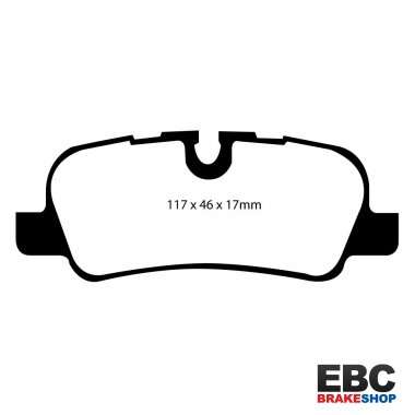 EBC Brakes Land Rover Discovery 2.7 TD 2004-2009 Greenstuff 4x4 Pad - Rear (DP61542)