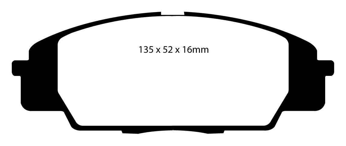 Ebc Redstuff Front Brake Pads Honda Civic Type R Fn2 Ep3 S2000 Dp31254C