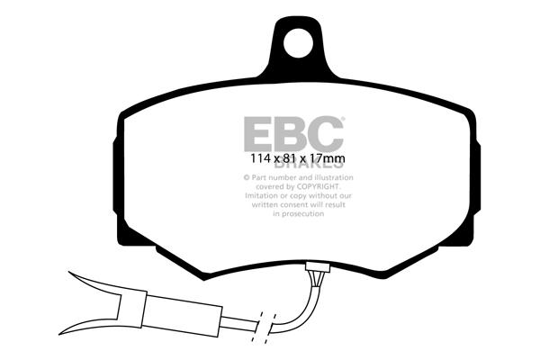 68 /> 73 EBC Ultimax Rear Brake Pads for Jaguar XJ12 5.3