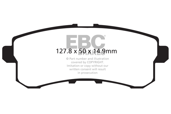 EBC DP61659 GREENSTUFF STREET ORGANIC BRAKE PADS FRONT