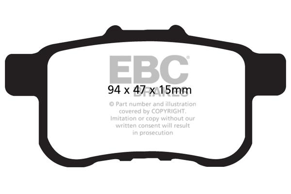 PDKR376 EBC Rear Brake Kit Ultimax Pads /& Standard Discs