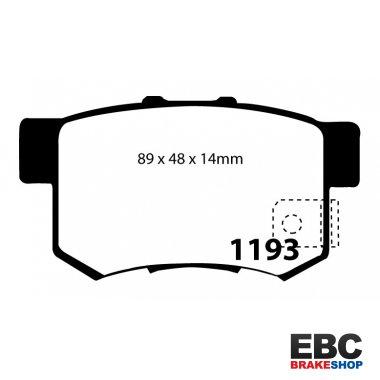 Pair DP1193 EBC Ultimax OE Replacement Rear Brake Pads