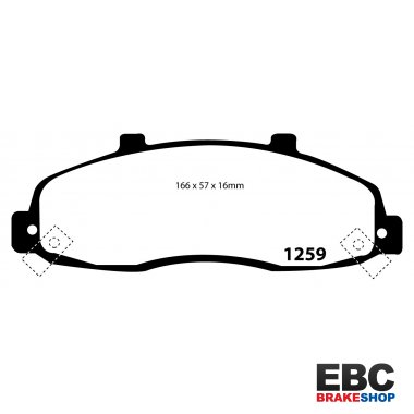 EBC Ultimax Brake Pads DP1259