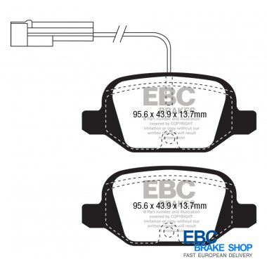EBC Greenstuff Brake Pads DP21338/2