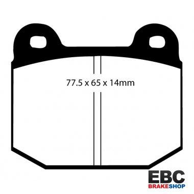 EBC Brakes DP2885//2 Greenstuff 2000 Series Sport Brake Pad