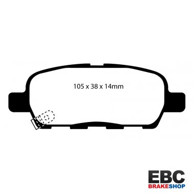 EBC REDSTUFF REAR PADS DP31666C FOR NISSAN SKYLINE V35 3.0 V35 2001-2006