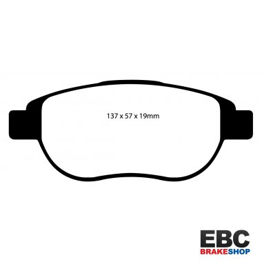 EBC Yellowstuff Brake Pads Front dp41641r for FORD Fiesta 2.0 ST 2004-2008