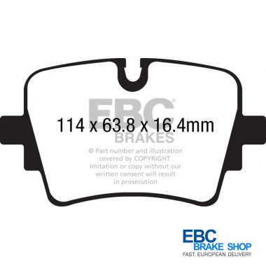 EBC Yellowstuff Yellow Stuff Performance Front Brake Pads DP41908R