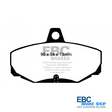 EBC For Mercedes EBC Yellowstuff Ultra High friction pad set DP41989R Front