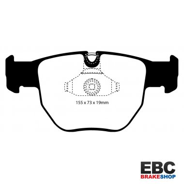 EBC Brakes Land Rover Range Rover 2.9 TD 2002-2005 Greenstuff 4x4 Pad - Front (DP61463)
