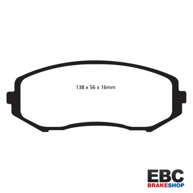 EBC Extra-Duty Greenstuff-6000 Brake Pads DP61818