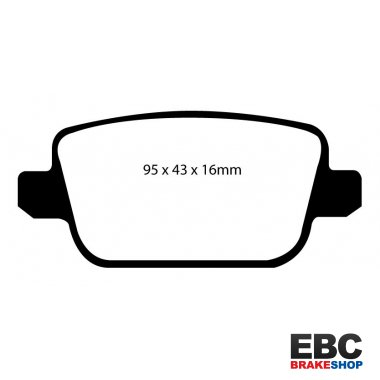 EBC Extra-Duty Greenstuff-6000 Brake Pads DP61933