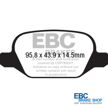 DPX2220 EBC Ultimax FRONT Brake Pads fit MG 3