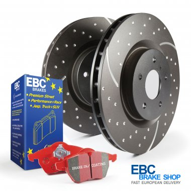 EBC Redstuff Pad & Turbo Groove Disc Kit PD12KF253